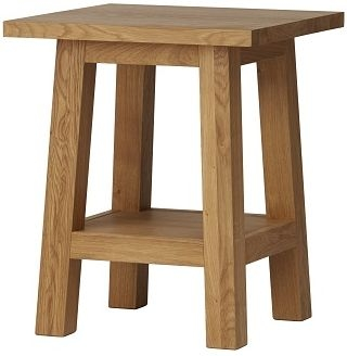 Qualita Trinity Oak Side Table