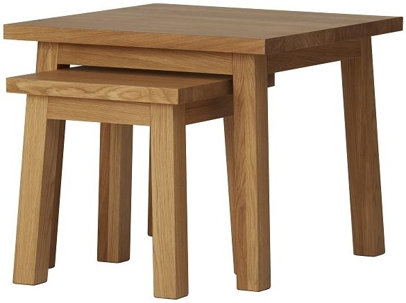 Qualita Trinity Oak Nest of Tables
