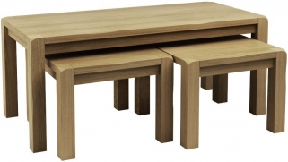 Qualita Vermont Oak Nest of Tables - No 2
