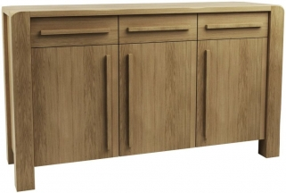 Qualita Vermont Oak Sideboard - 3 Door