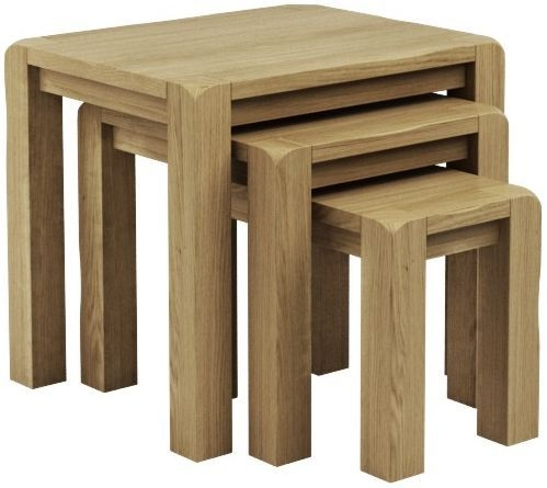 Qualita Vermont Oak Nest of Tables - No 1