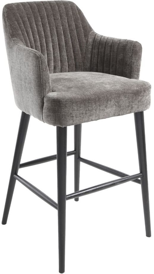 RV Astley Blisco Mouse and Latte Fabric Bar Stool