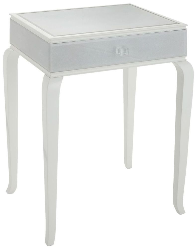 RV Astley Tralee Soft White Paint 1 Drawer Bedside Cabinet