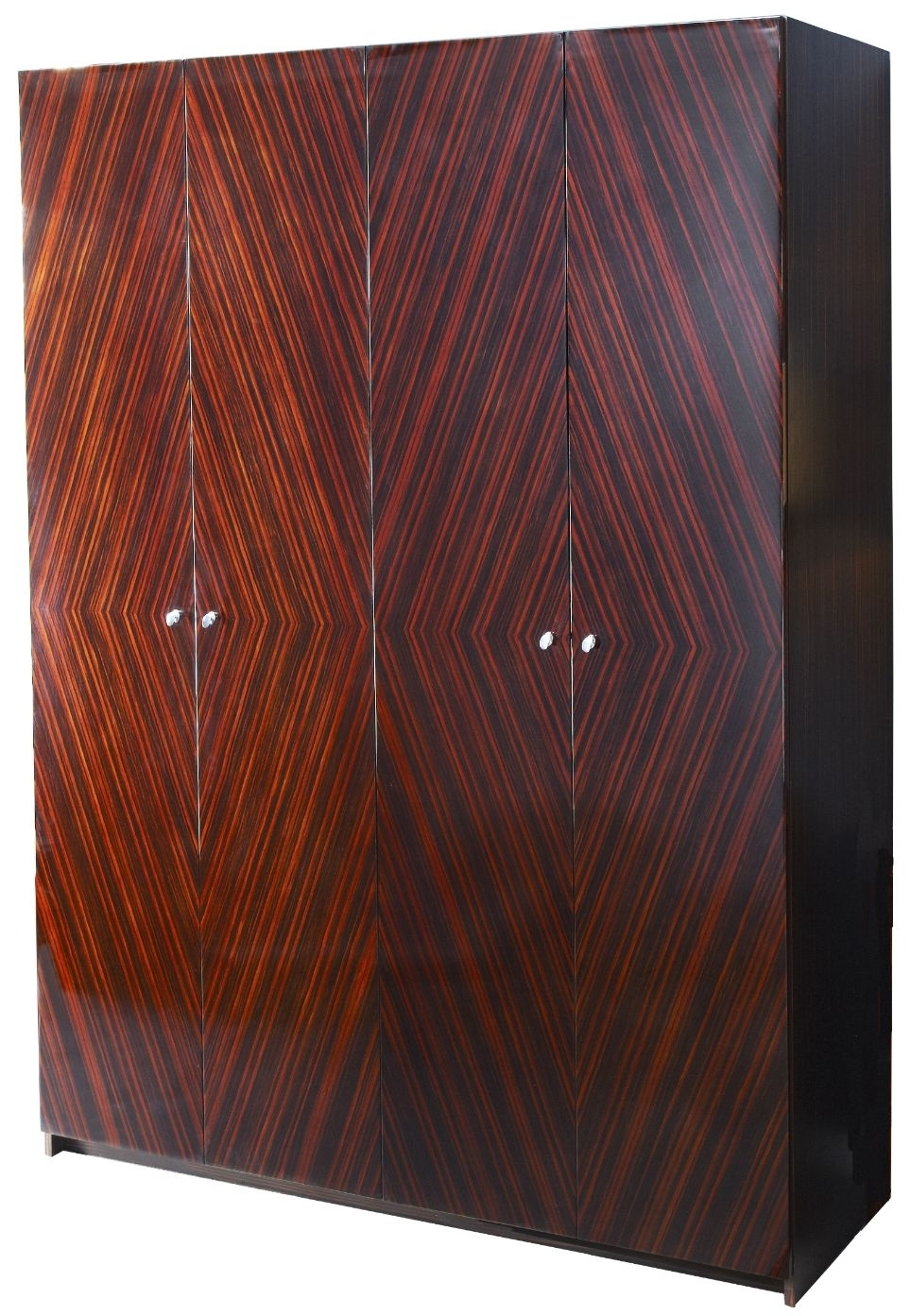 RV Astley Lymn Ebony Lacquered and MDF 4 Door Wardrobe
