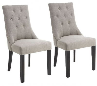 RV Astley Addie Grey Dining Chair (Pair)