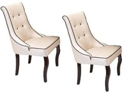 RV Astley Flyn Cream Dining Chair (Pair)