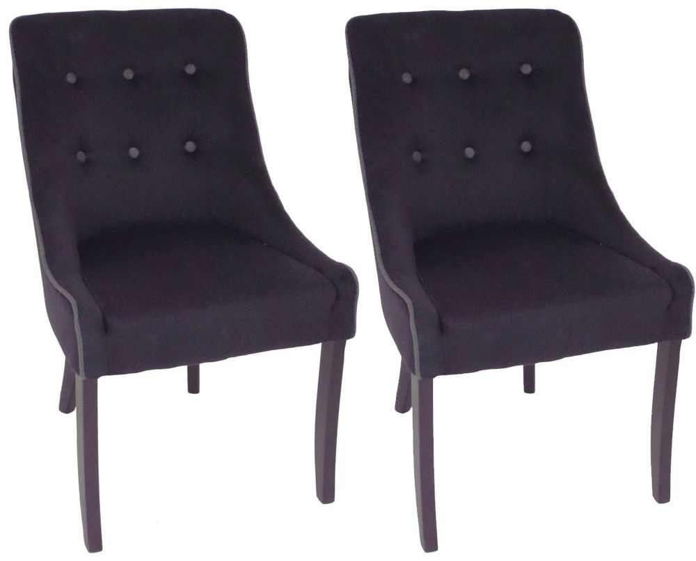 RV Astley Adrino Black Dining Chair (Pair)