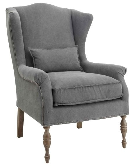 RV Astley Alita Highback Armchair in Grey Linnen