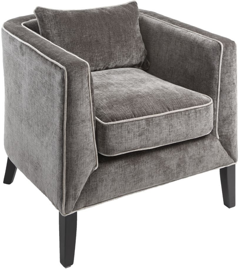 RV Astley Atina Chenille Mouse Fabric Armchair