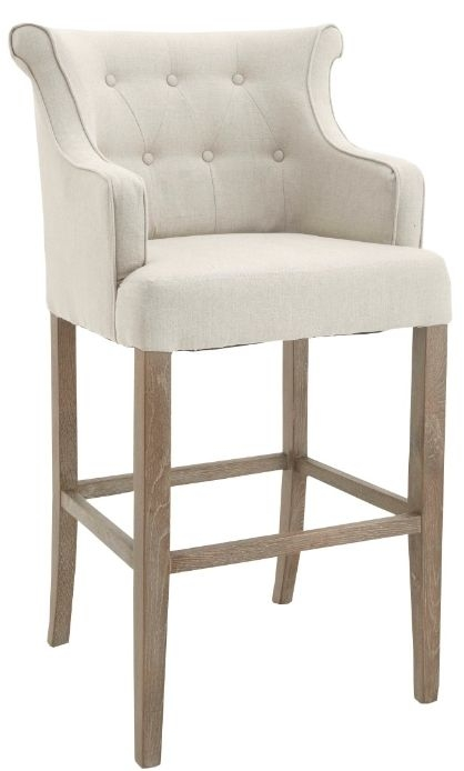 RV Astley Gala High Stool in Natural Linen