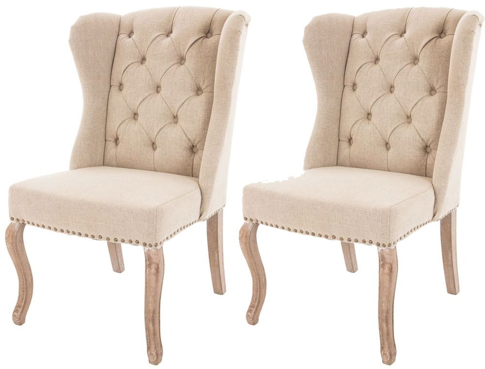 RV Astley Linen Natural Dining Chair (Pair)
