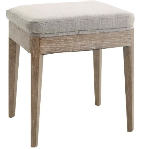 RV Astley Oriel Stool in Grey Mix Linen Mix