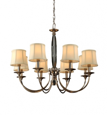 RV Astley Bailee 8 Branch Chandelier with Shades