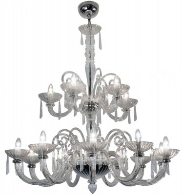 RV Astley Clear Glass 15 Branch Chandelier