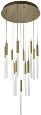 RV Astley Darina Brushed Brass and Metal Chandelier