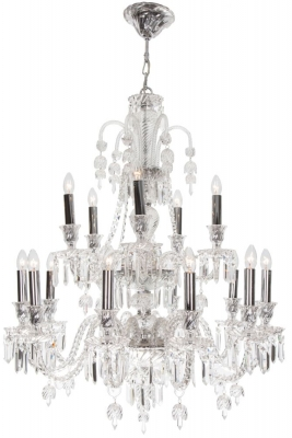 RV Astley Elegance 15 Branch Clear Glass Chandelier