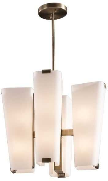 RV Astley Amery Chandelier Light - Milk White Glass and Metal