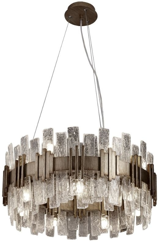 RV Astley Saiph Small Chandelier Celing Light - Antique Gold and Glass