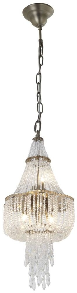 RV Astley Vita Petite Champagne Gold and Crystal Chandelier