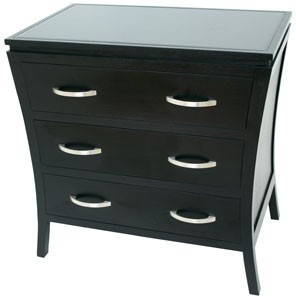 RV Astley Black Chest of Drawer- 3 Drawer