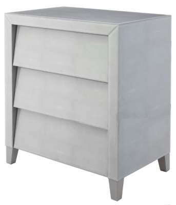 RV Astley Colby Soft Grey Shagreen 3 Drawer Cabinet
