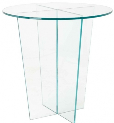 RV Astley Glass Round Side Table