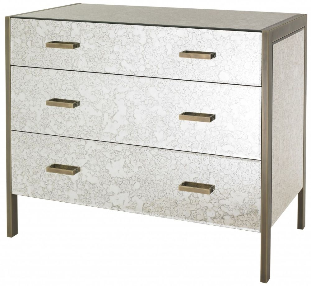 RV Astley Mirrored 3 Drawer Chest