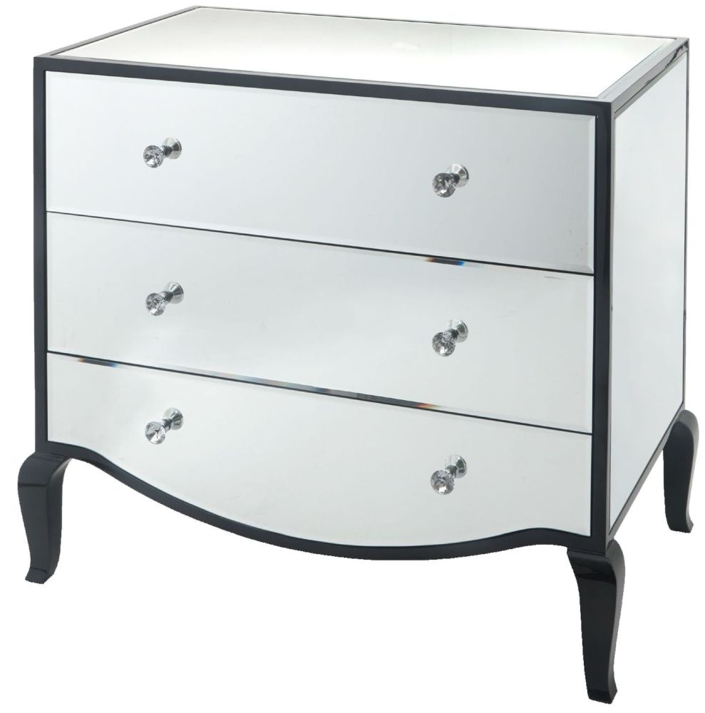 RV Astley Carn Mirrored 3 Drawer Chest