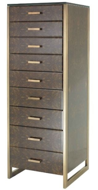 RV Astley Eman Dark Walnut 9 Multi Drawer Tall Boy Chest