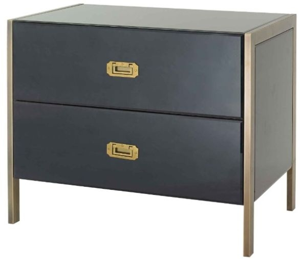 RV Astley Ettore 2 Drawer Side Table