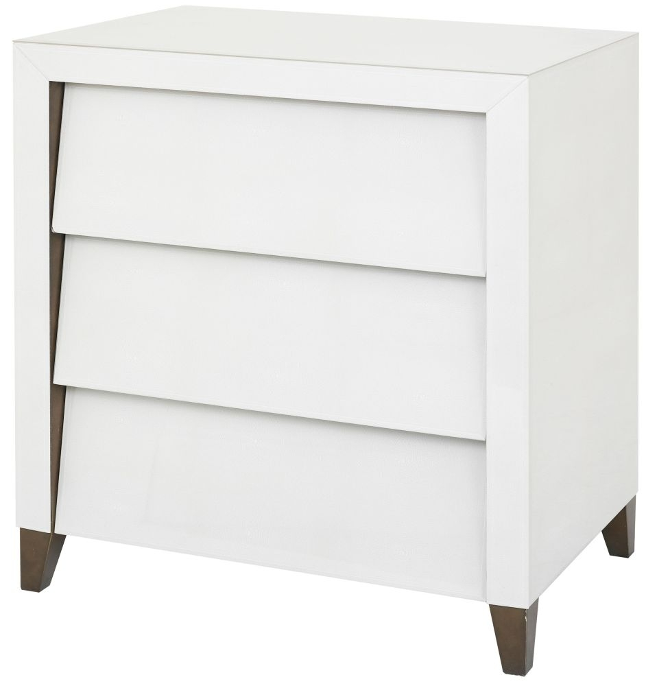 RV Astley Iced Ivory 3 Drawer Chest