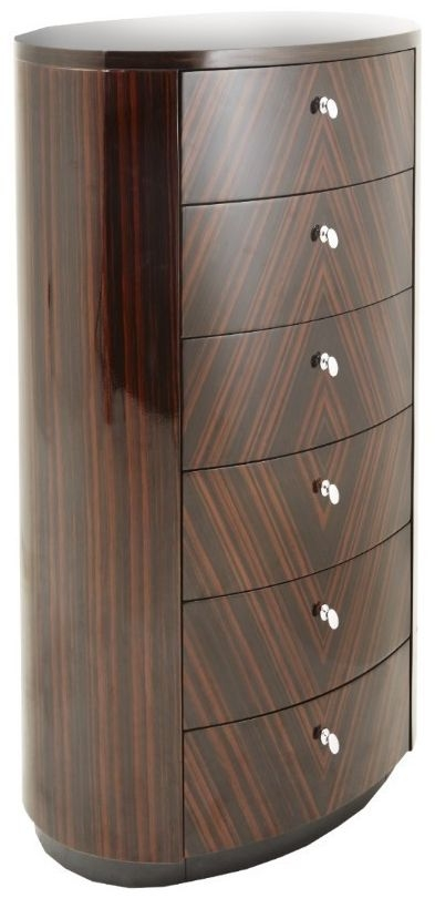 RV Astley Lymn Brown 6 Drawer Tall Chest