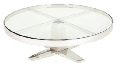RV Astley Ausoinia Glass Top Coffee Table