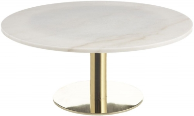 RV Astley Dane Marble and Gold Coffee Table