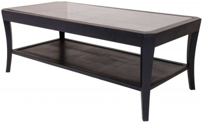 RV Astley Hyde Black Glass Coffee Table