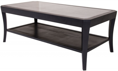 RV Astley Hyde Black Shagreen Coffee Table