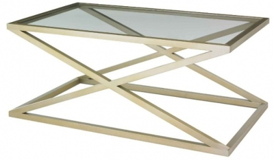 RV Astley Nico Coffee Table in Champagne Finish