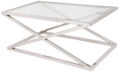RV Astley Nico Stainless Steel  Coffee Table
