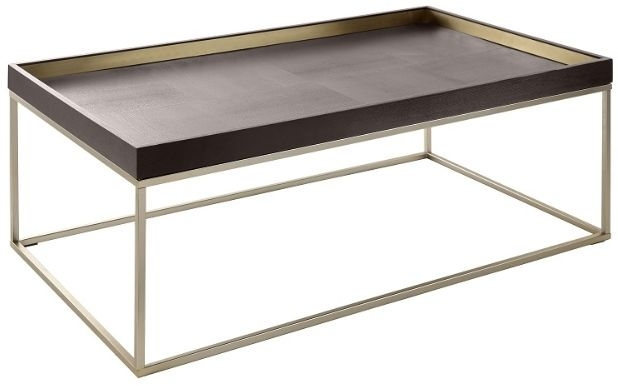 RV Astley Alyn Coffee Table - Champagne and Warm Chocolate