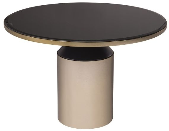 RV Astley Lileas Coffee Table - Black Chocolate and Antique Brass