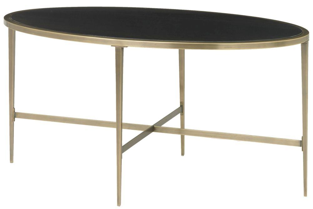RV Astley Adare Antique Brass Coffee Table - Oval