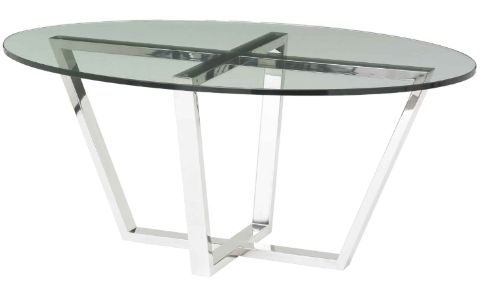 RV Astley Brenzette SS Tempered Glass Coffee Table
