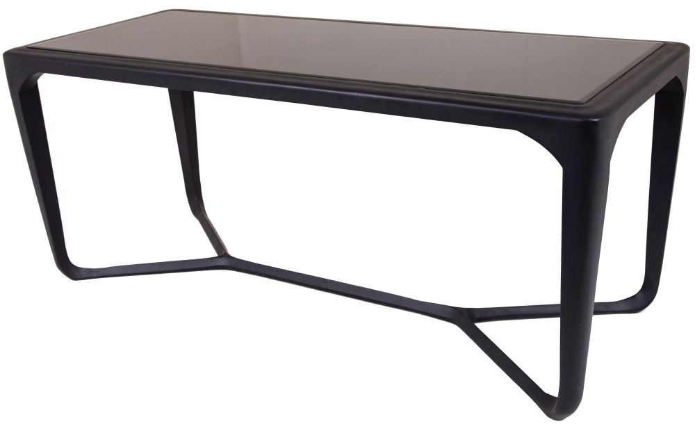 RV Astley Moneen Matt Black Coffee Table