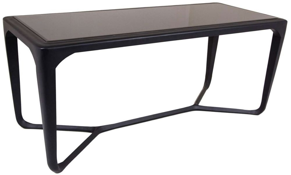 RV Astley Moneen Black Shagreen Coffee Table