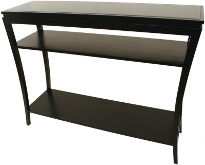 RV Astley Black Console Table - 2 Shelves