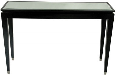 RV Astley Black Console Table - Mirror Top