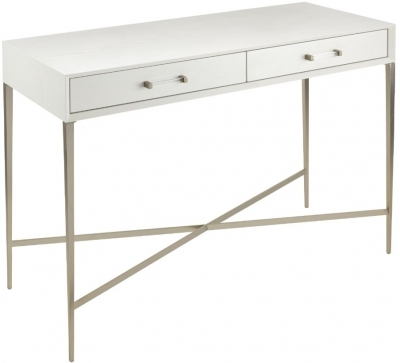 RV Astley Dana Console Table - White and Champagne