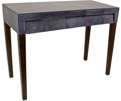 RV Astley Dark Grey Shagreen Console Table - 2 Drawer