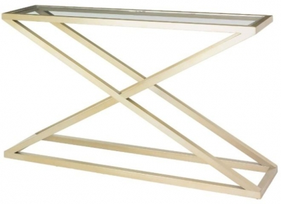 RV Astley Nico Console Table in Champagne Finish