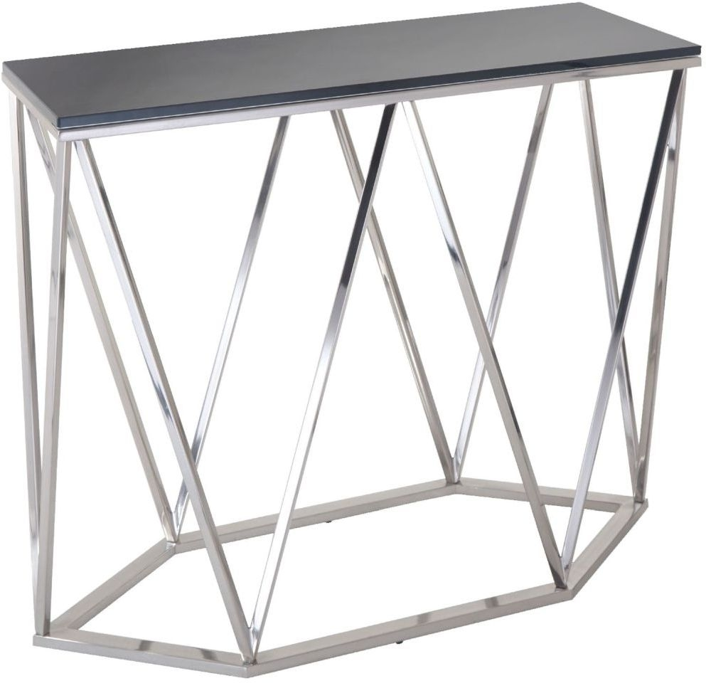 RV Astley Gallane Satin Nickel Console Table